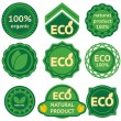 Royalty-Free Stock Vector Image: Eight green labels for eco products
