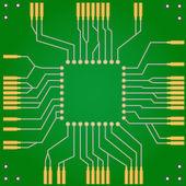 Printed circuit board for central processor unit — Stock Vector