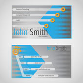 Stylish modern vector business card with standart 90 x 50 mm — Stock Vector