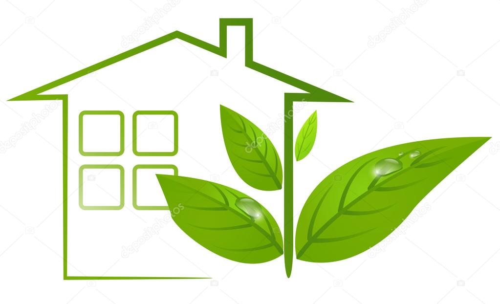 Ecological Logo of Green House