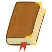 Leather Magic Book — Stock Vector