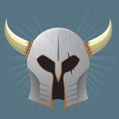 Silver Warrior Helmet — Stock Vector