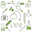 Set of medical icons — Vector de stock #34649509