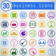 Set of Simple Round Business Icons  — Stock Vector