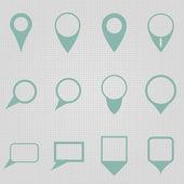 Twelve map pointers — Stock Vector