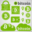 Bitcoin Currency Icons Set — Stock Vector