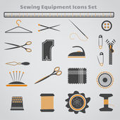 Sewing Equipment Icons Set — ストックベクタ