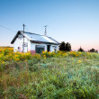 Abandoned house in field — Stock Photo
