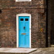 British blue door — Stock Photo