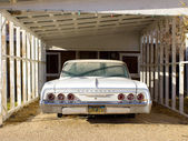 1964 chevrolet impala in parking garage — Stock Photo