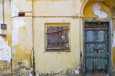 Boarded up Window and Door — Stock Photo
