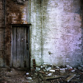 Door And Brick Wall — Stock Photo
