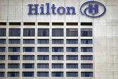 Hilton toronto hotel sign on building exterior — Stock Photo