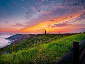 Lighthouse sunset — Stock Photo