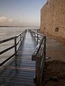 Dlouhé mokré chodník — Stock fotografie
