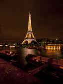 Night Shot of Eiffel Tower — Stock Photo