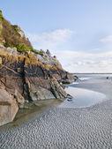 Mont Saint Michel Low Tide — Stock Photo