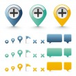 Navigation icons - basic elements set — Stock Vector