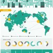 图库矢量图片: City infographics - with icons charts and design elements