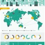 stad infographics - met pictogrammen grafieken en ontwerpelementen — Stockvector