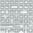 Transportation icons set — Stock Vector #47115577