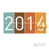2014 greeting idea — Vector de stock