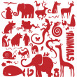 Funky animals vector collection — Stock Vector #50137205