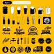 Beer icons & design elements — Stock Vector #50137275