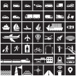 Transportation icons set — Stock Vector #50137843