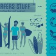 Surfers stuff — Stock Vector #50137855