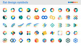 Flat design symbols, signs, abstract icons — Stock Vector