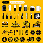 Beer icons & design elements — Stock Vector