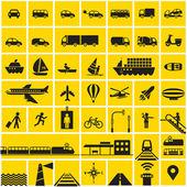 Transportation icons set — Stock Vector