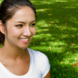 Smiling happy women after morning excercise in the park — Stock Photo