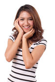 Happy smiling beautiful asian women in casual dress — Stock Photo