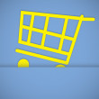 Shopping cart icons — Stock Photo