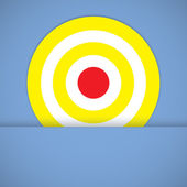 Goal ring in archery target — Stock Photo