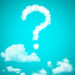 Clouds in shape of question mark — Stock Photo
