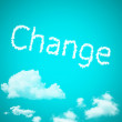 Change cloud word — Stock fotografie
