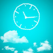 Clouds in shape of Clock face — Stock Photo