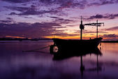 Fishing boat before the sunset in south of thailand — Stock Photo