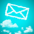Mail cloud shape — Stock Photo