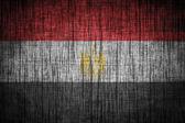 Egypt flag on wood texture — Stock Photo