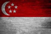 Singapur vlajky texturu dřeva — Stock fotografie