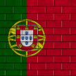 Portugal flag painted on a brick wall — Photo #31232901