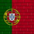 drapeau Portugal peint sur un mur de brique — Photo #31232901