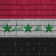 Iraq flag painted on a brick wall — Lizenzfreies Foto