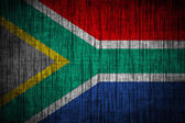 South african flag wood texture — Stock Photo