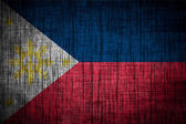 Philippines flag wood texture — Stock Photo