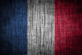 Bandera de Francia en textura de madera — Foto de Stock